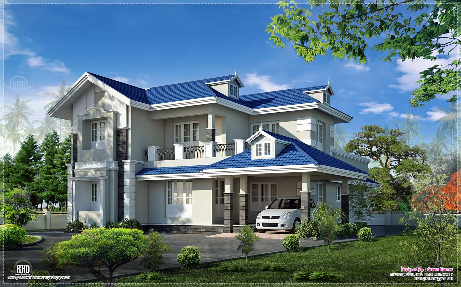 Beautiful Bedroom Villa Exterior House Design Plans