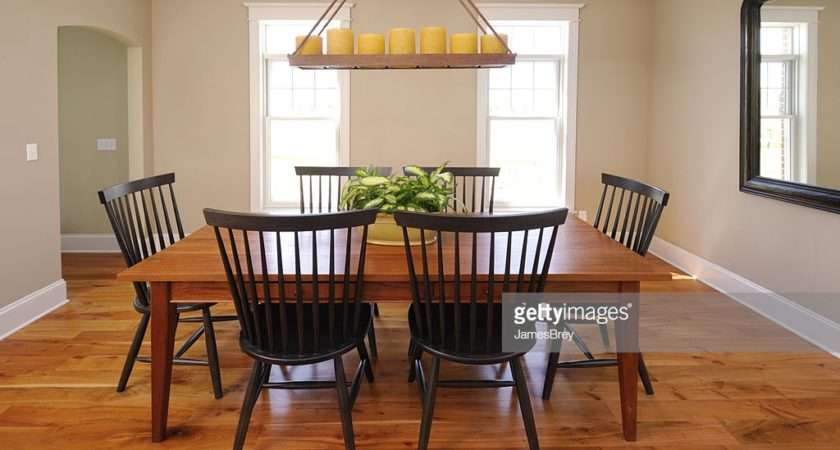 Beautiful Clean Country Style Dining Room Hardwood Floors