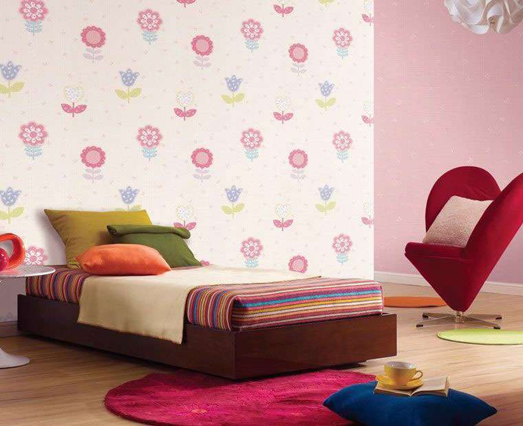 Beautiful Colorful Flower Wall Decal Girls Room