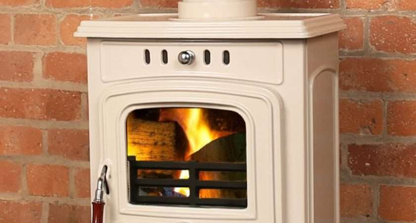 Beautiful Cream Wood Burning Stoves