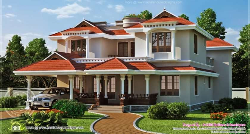 Beautiful Home Exterior Square Feet Indian House Plans