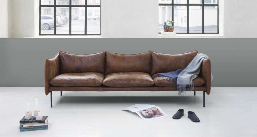 Beautiful Leather Sofas Swedish Brand Fogia Cate Hill
