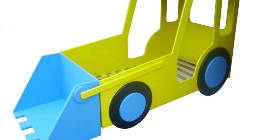Bed Jcb Yellow Kids Themed Beds Childrens Novelty Single