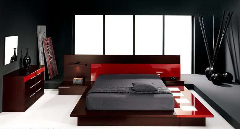 Bedroom Decorating Ideas Black White Red