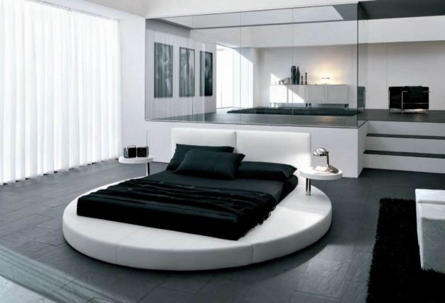 Bedroom Design Black White Decosee