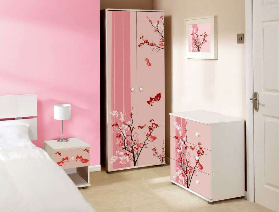 Bedroom Designs Pink Floral Modern Little Girls Ideas