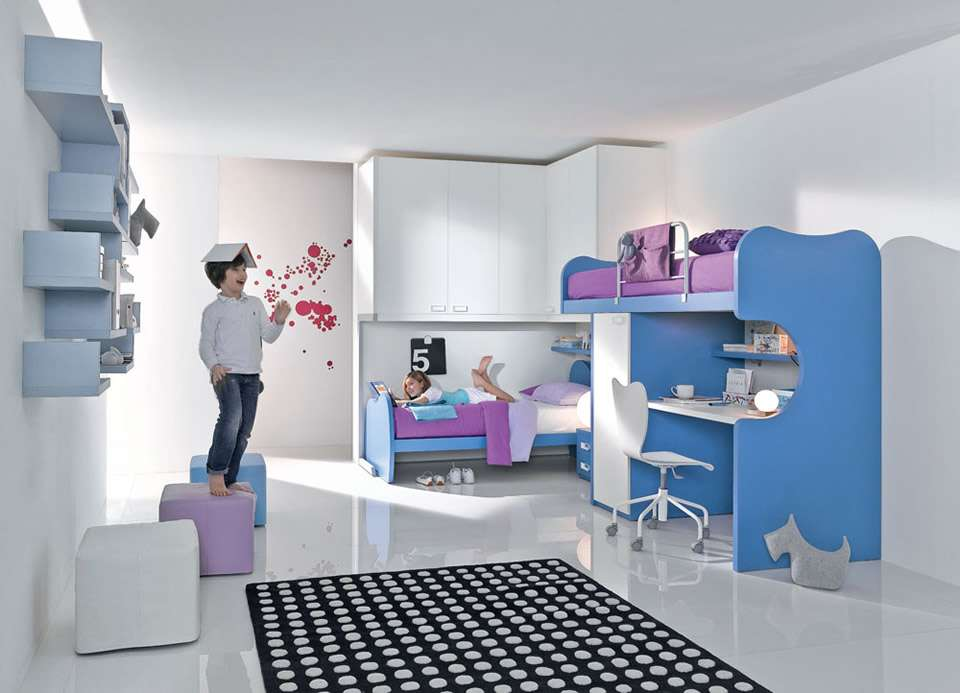 Bedroom Furniture Teenagers Contemporary Rainbow Collection