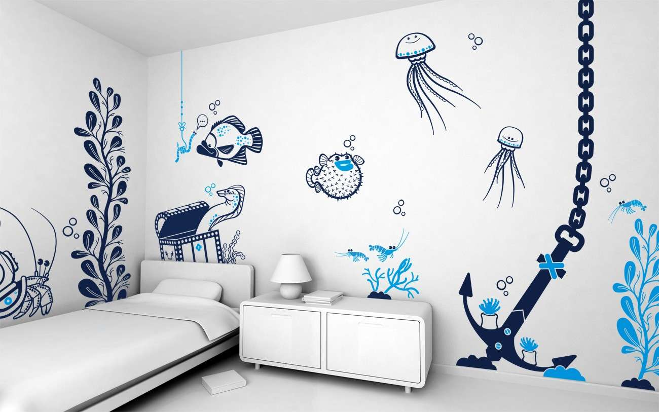 Bedroom Mesmerizing White Wall Paint Decorating Ideas