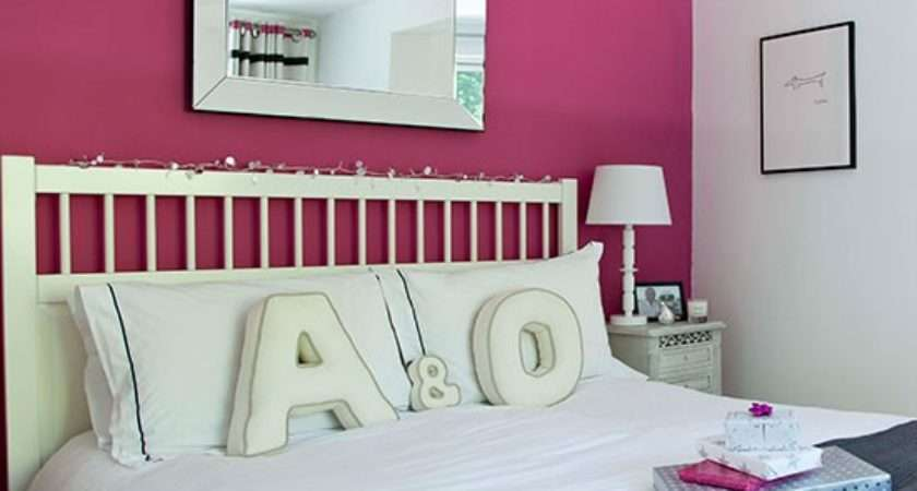 Bedroom Pink Feature Wall Colour Schemes Housetohome