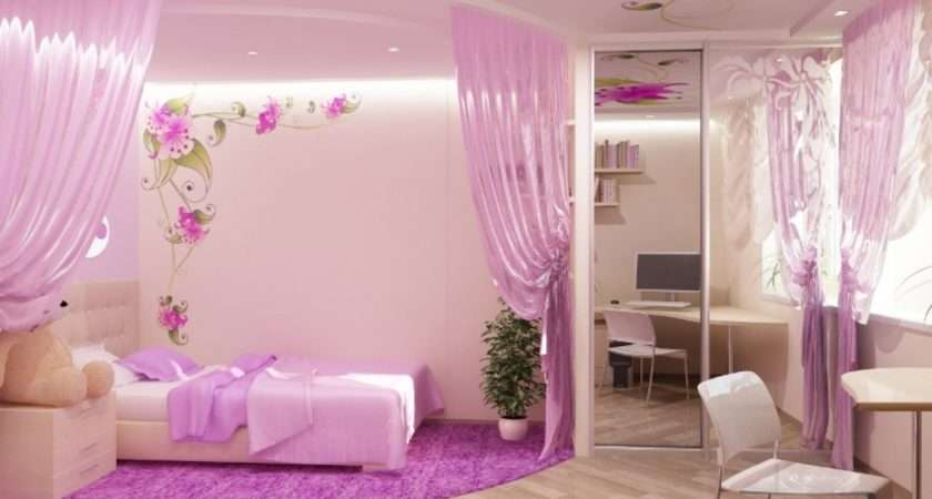 Bedroom Pink Girls Decorating Ideas