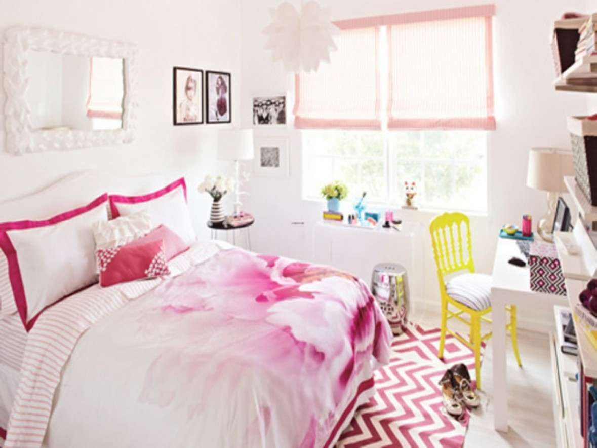 Bedroom Rugs Teenage Girls Sweet White Pink