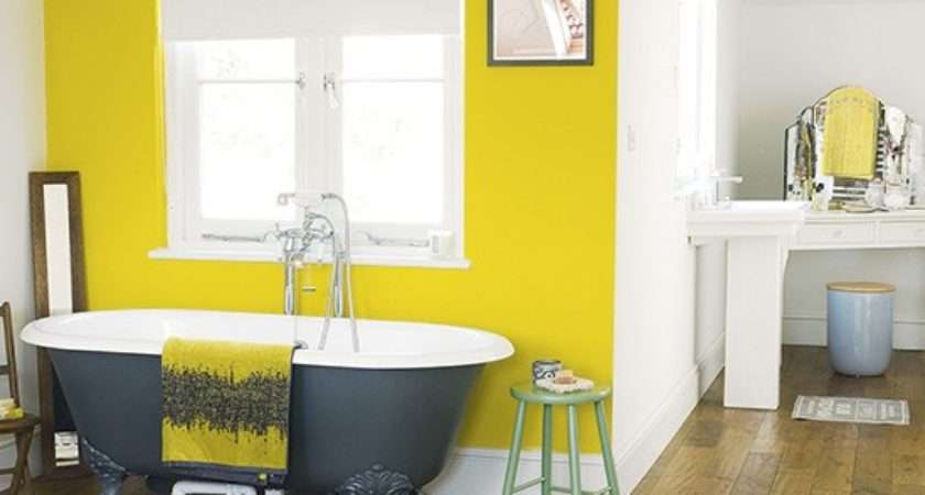 Bedroom Yellow Painted Feature Wall Paint Ideas