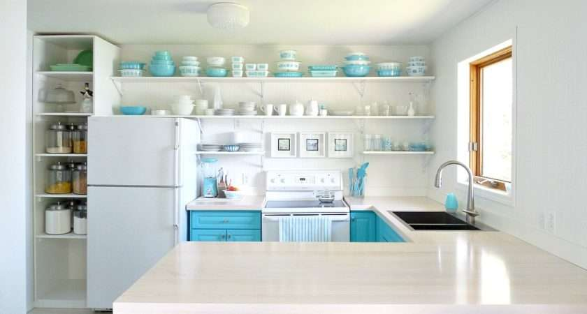Before After Turquoise Dream Kitchen Stylish Patina
