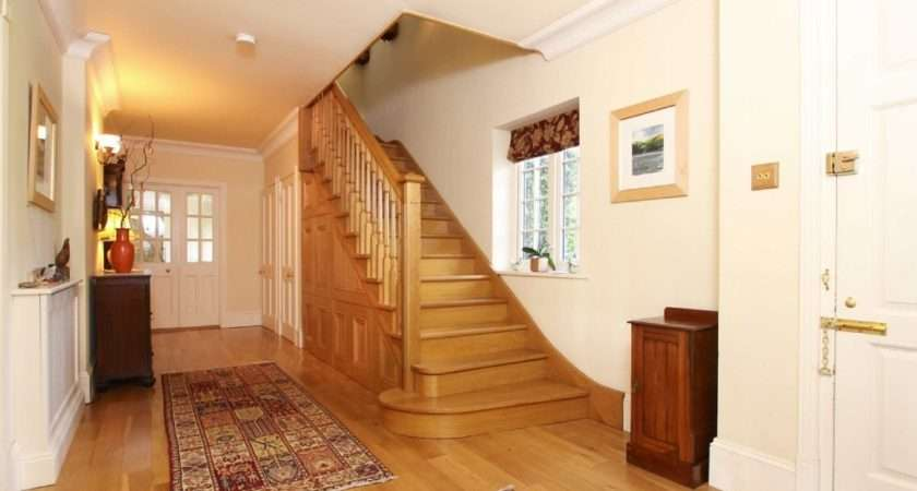 Beige Orange Entrance Hall Staircase Stairs