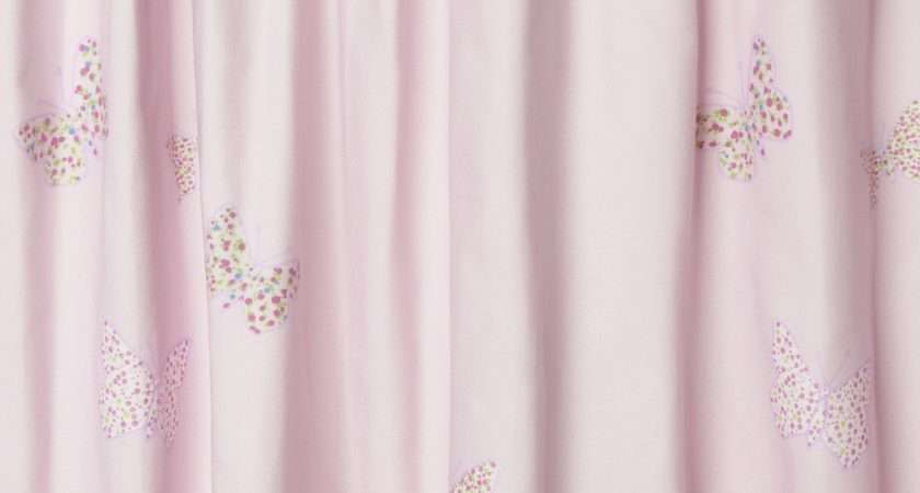 Bella Butterfly Pink Ready Made Blackout Curtains Laura Ashley