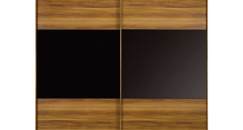 Berkeley Black Sliding Wardrobe Small