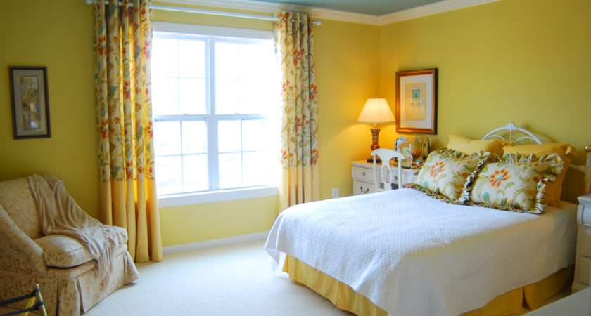 Best Colorful Bedrooms Modern Interior Style Yellow Wall Paint