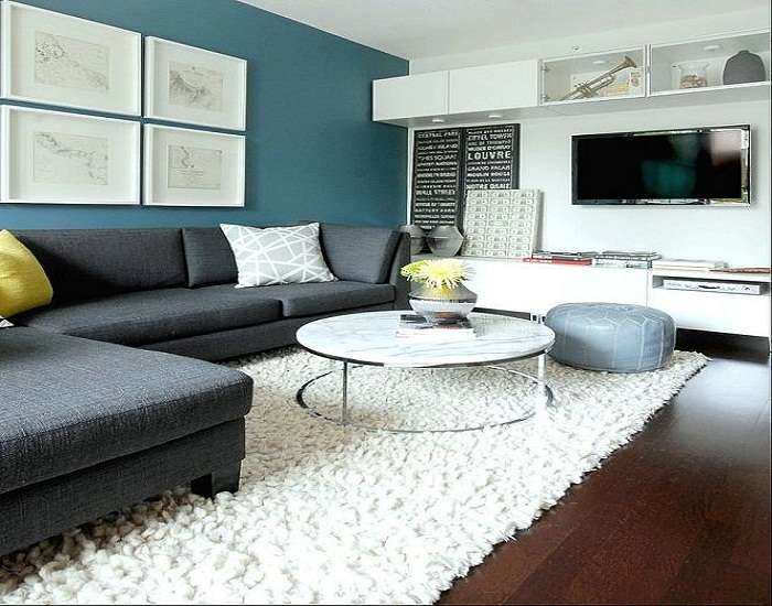 Best Colors Accent Wall Living Room Modern Interior Design