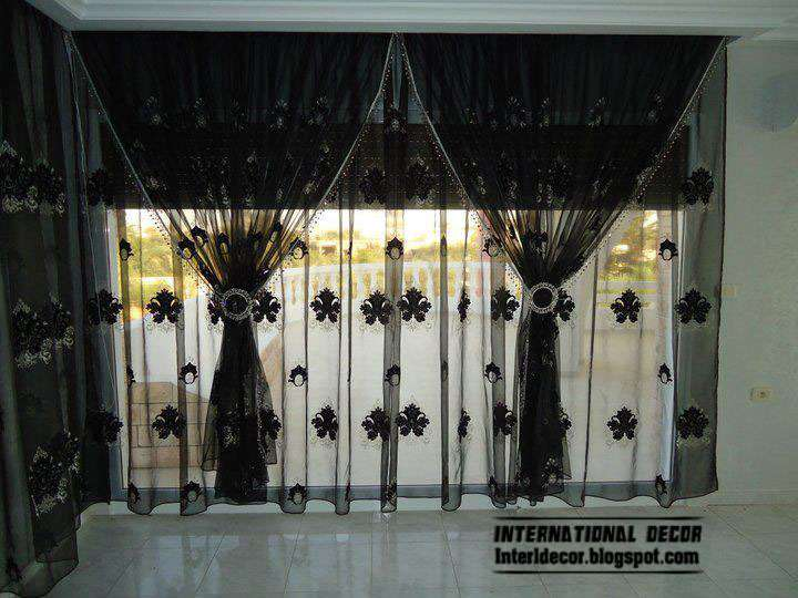 Black Curtain Design Living Room Style