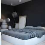 Black Gray White Bedroom Interior Design Ideas