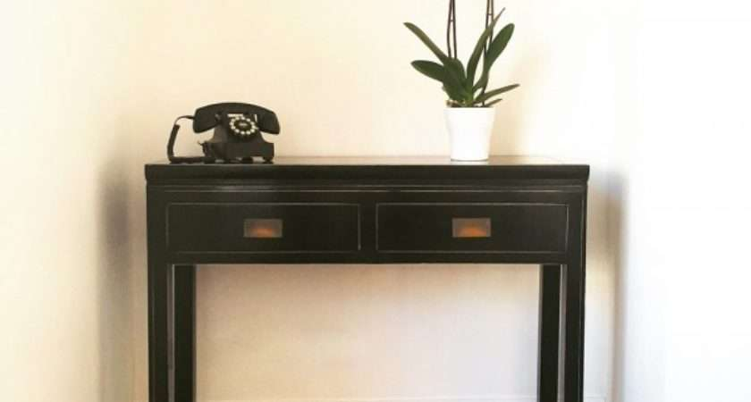 Black Lacquer Chinese Style Console Table