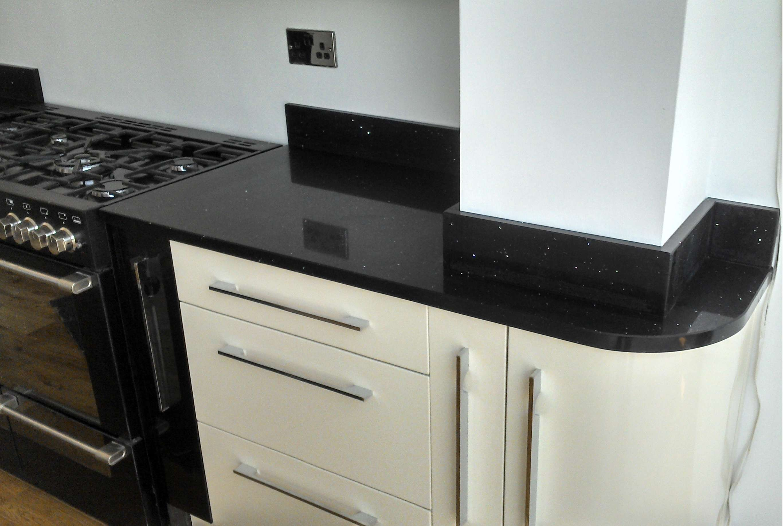 Black Laminate Fitting Kitchen Worktops Modern Remodeling