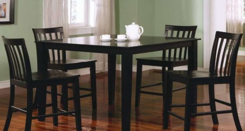 Black Leather Bar Stools Counter Height Home Kitchen