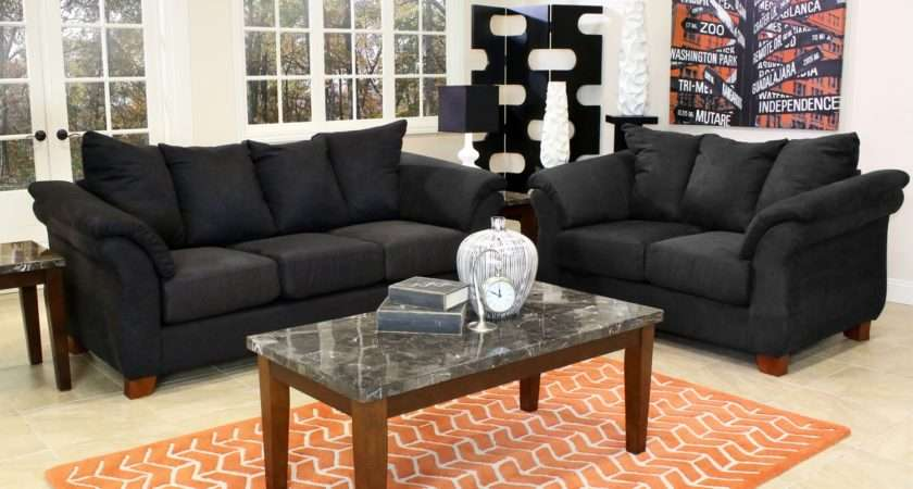 Black Living Room Furniture Set Decor American