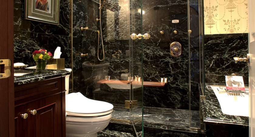 Black Marble Bathroom Tiles Ideas
