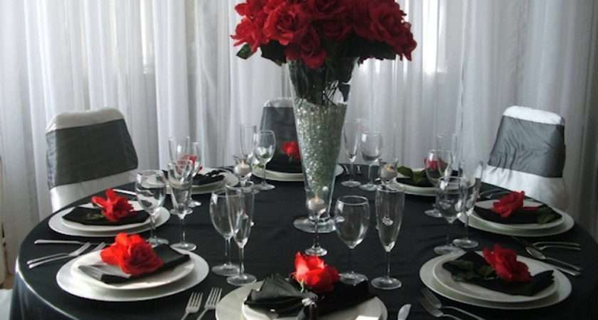 Black Table Decorations Weddings
