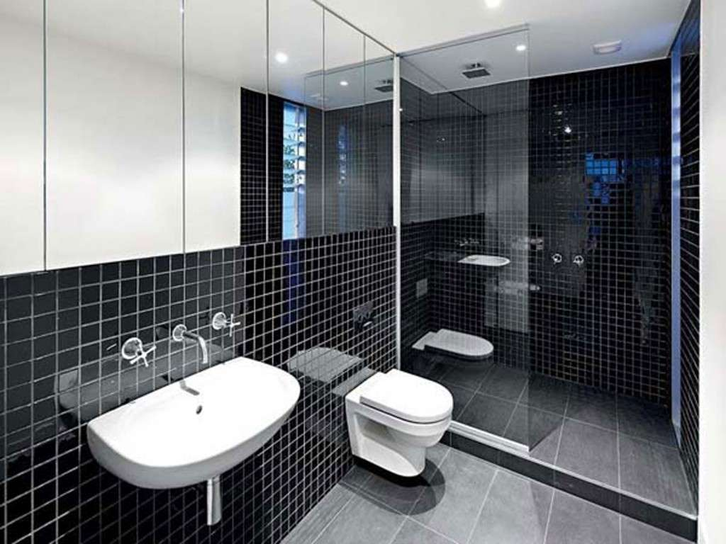 Black White Bathroom Tile Design Ideas