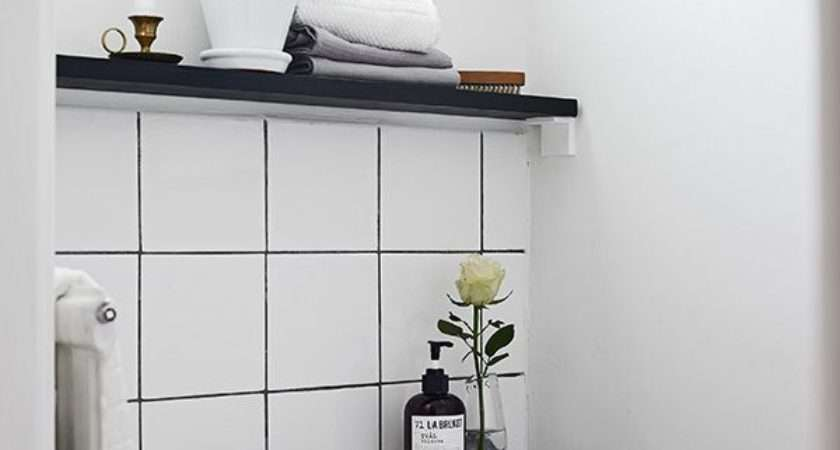 Black White Bathroom Tiles Small