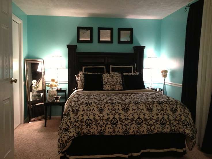 Black White Blue Bedrooms Ideas