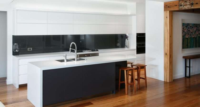 Black White Contemporary Kitchen Completehome