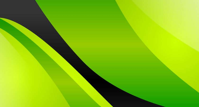 Black White Green Yellow Abstract