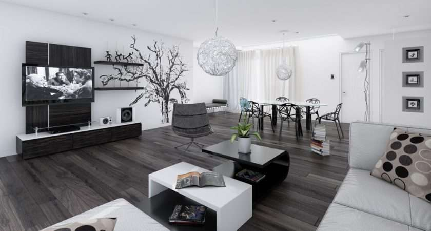 Black White Living Dining Room Jpeg