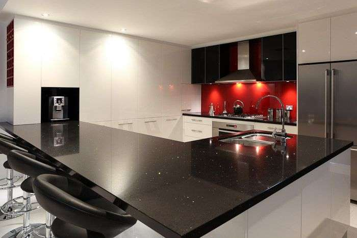 Black White Red Kitchen Dazzling Designer