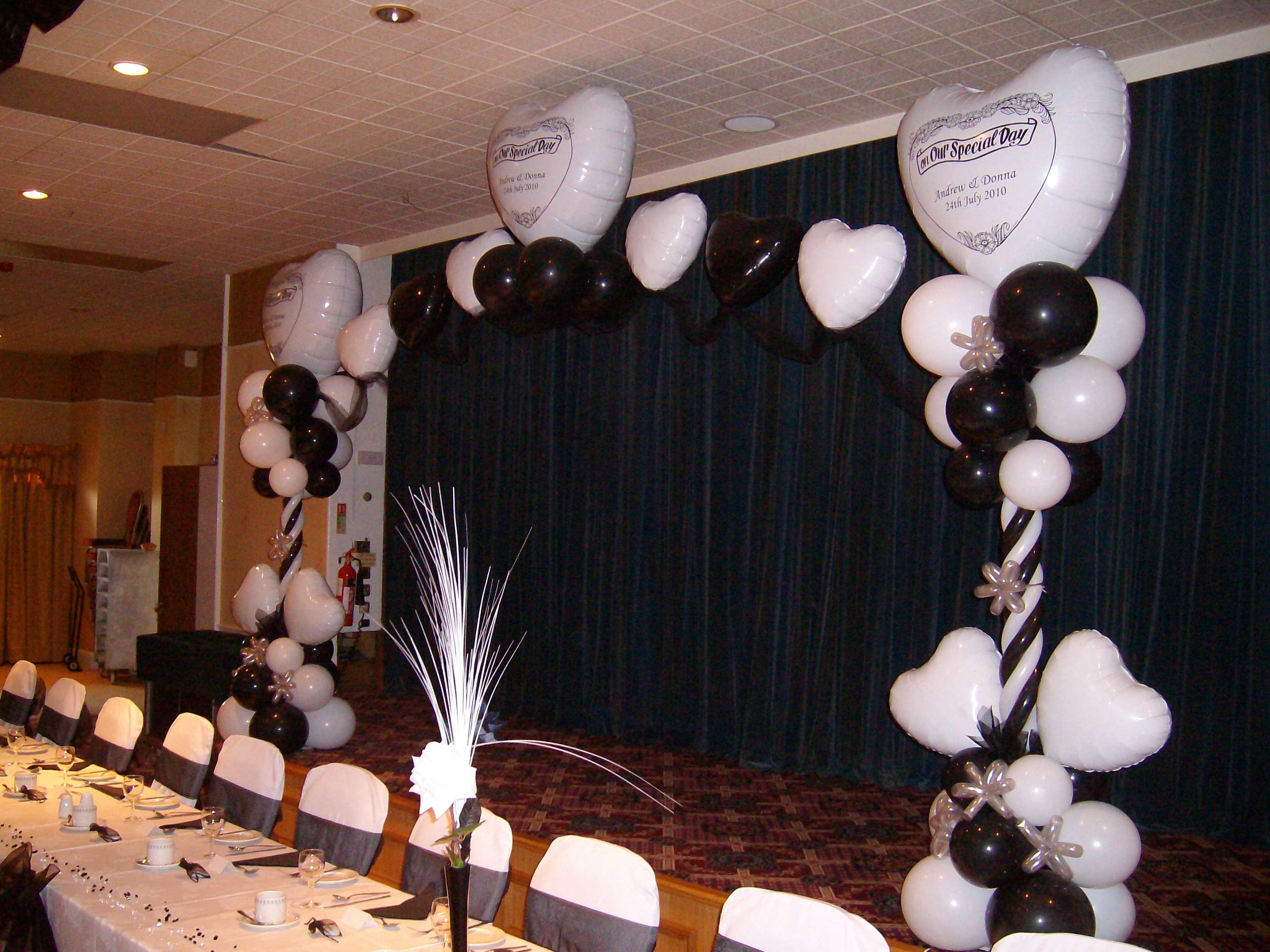 Black White Wedding Decor Special Occasion Foils Matthew Lewis