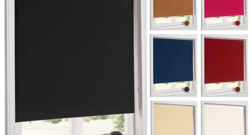 Blackout Thermal Roller Blinds Easy Fit Window Trimmable
