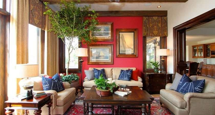 Blend Red Blue Beautiful Living Room Rooms