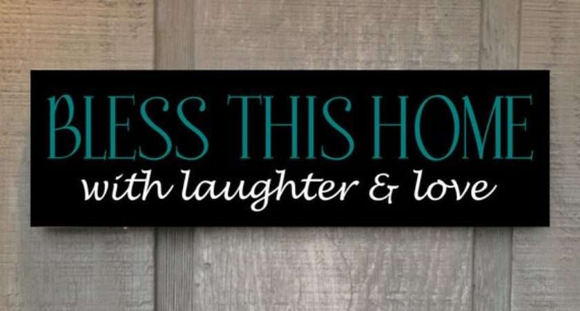 Bless Home Laughter Love Wood Sign Handmade Hand
