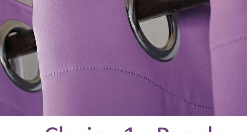 Blockout Curtains Eyelet Curtain Grommet Ring Top Purple Pink Etc