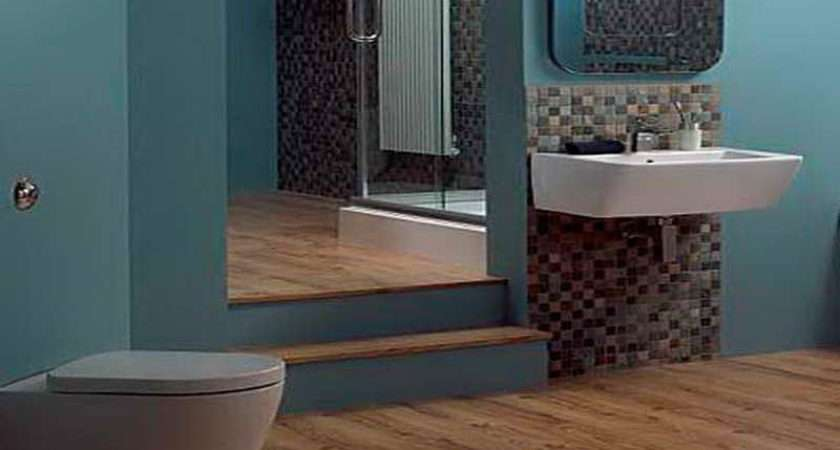 Blue Brown Bathroom Decorating Ideas