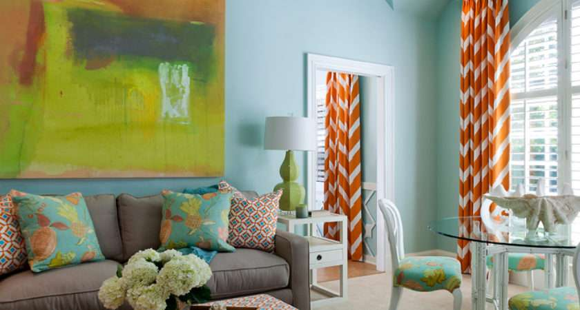 Blue Green Orange Living Room Designs Best Wiring