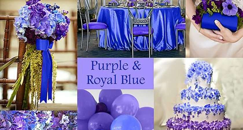 Blue Purple Colour Scheme Wedding Ideas Chwv