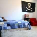 Blue Red Boys Room Pirate Accessories Interior Design Ideas