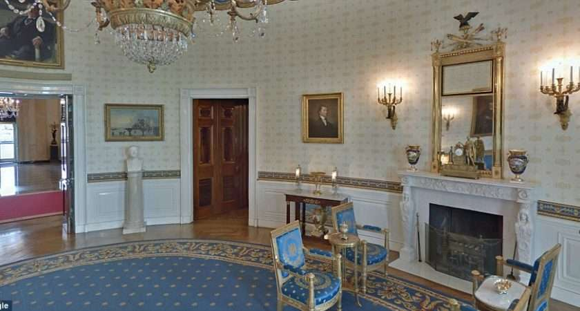 Blue Room Bust Christopher Columbus Positioned Under