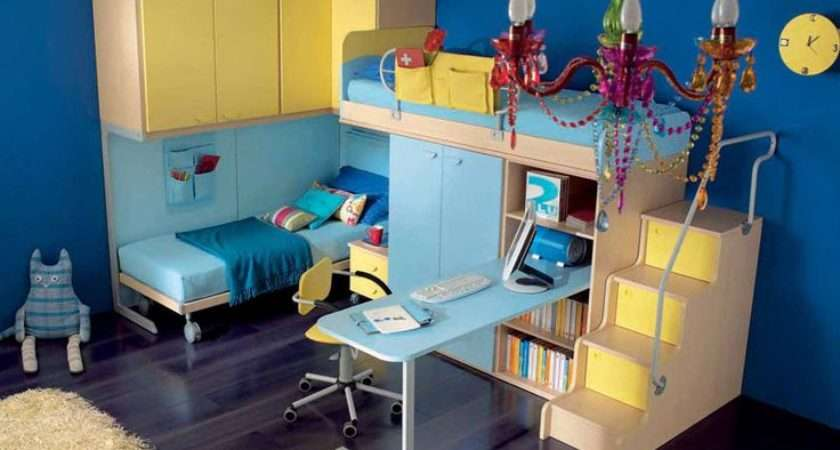 Blue Yellow Room Twin Bunk Beds Things Want House