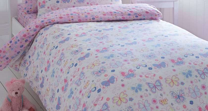 Bluezoo Kids Pink Sarah Jane Butterfly Duvet Cover