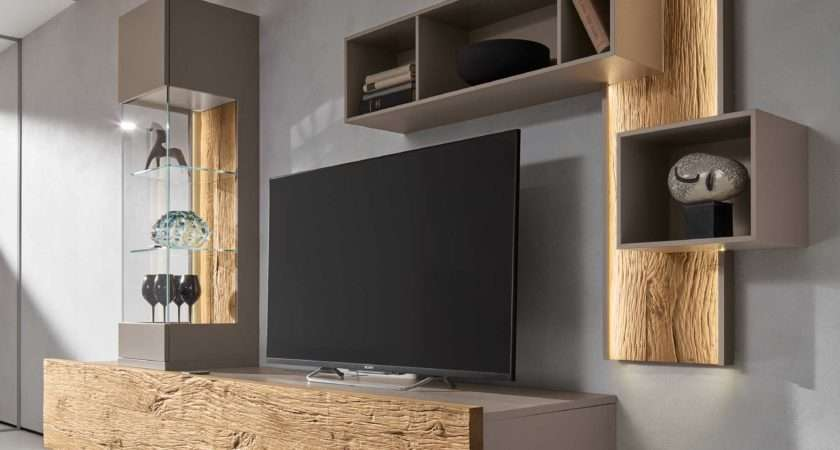 Bohle Combination Wall Unit Natural Oak Glass